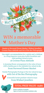 Crowne Plaza – Win a memorable Mother's Day 2014