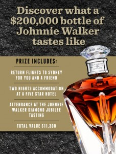 Dan Murphys – Win trip to Sydney for Johnny Walker Diamond Jubilee tasting