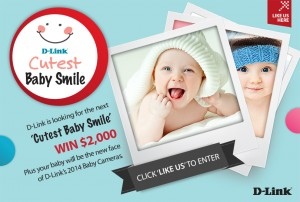 D-Link Australia & New Zealand – Cutest baby smile Win $2000 and a Camera