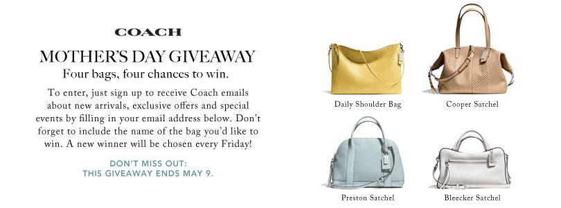Ebates – Win Coach handbag for Mother s Day 2014  877be5129d904