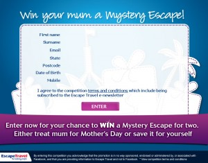 Escape Travel – Win Your Mum A Mystery Escape