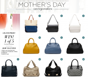 Florsheim Mother's Day Sweepstakes – Win 1 of 5 Florsheim handbags