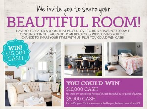Home Beautiful Magazine – Win up to $10,000 Cash