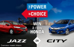 Honda – Win either City VTi-L or or Jazz VTi-L Car