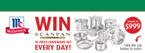 IGA McCormick – Win a Scanpan Cookware Set valued at $999 every day