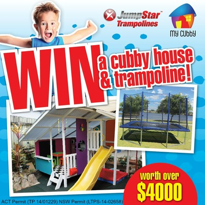 jump star trampolines win the ultimate kids backyard package australian competitions. Black Bedroom Furniture Sets. Home Design Ideas