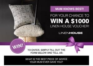 Linen House – Win a $1,000 Linen House voucher