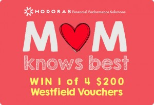 Mouths of Mums – WIN 1 of 4 Westfield vouchers for $200