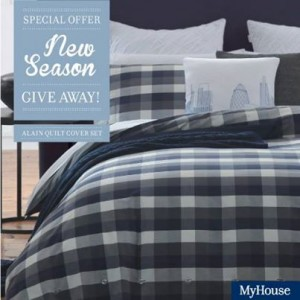 """MyHouse – Like and share to Win a """"Alain"""" quilt cover set"""