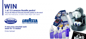 Natural Secrets Goatsmilk – Weekly prize for most referrals, Major prize $250 Coles Myer Gift Card