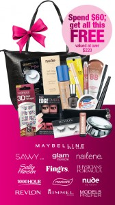 Priceline – Spend $60 or more to get a FREE cosmetics gift back worth over $220