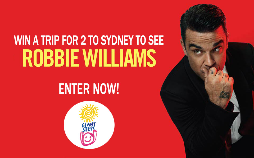 Win a trip for 2 to Sydney to see Robbie Williams Live!