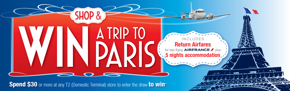 Cairns Airport – Win a Trip to Paris