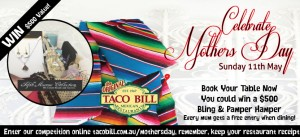 Taco Bill – Mothers Day Bling and Pamper Pack worth $500