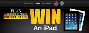 Werribee Chrysler Jeep Dodge Alfa Fiat – Win an iPad of 1 of 3 x $50 Fuel Cards