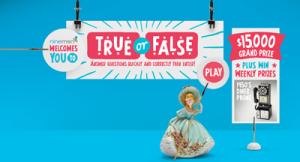 NineMSN True or False – Win $15K or weekly prizes