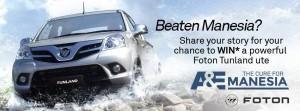 A&E TV – Foxtel Subscriber – Win a Foton Tuland Ute