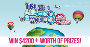 American Tourister Australia  – Win a Round the World trip & an American Tourister HS MV landmark print suitcase