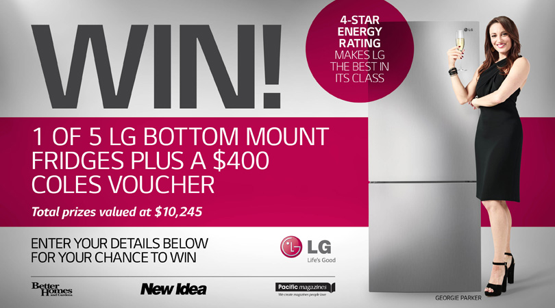 Better Homes And Gardens Win 1 Of 5 Lg Bottom Mount