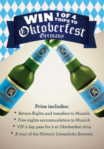 BWS – Win A Trip to Oktoberfest Germany