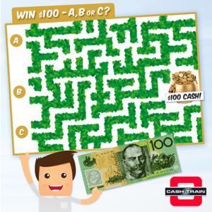 Cash Train – Win $100 Cash each week
