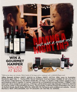 Cellarbrations – buy 2 red wines to Win daily $250 hamper prize alcohol