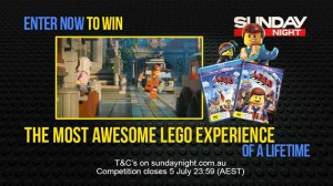 Channel 7 – Sunday Night, trip to Sydney, Lego Experience + runner up prizes
