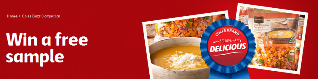 Coles Buzz – Win 1 Of 500 Free Thai Pumpkin Soup Kits
