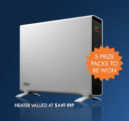 De'Longhi – Win $1,000 Cash + A De'Longhi Panel Heaters
