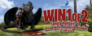 DreamWorld – Win holidays to DreamWorks Animation Studios in the USA