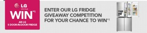 Harvey Norman – Win a LG Fridge (Must have bought a LG product in last year from Harvey Norman to be eligible)