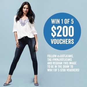 Just Jeans – WIn 1 of 5 $200 Vouchers