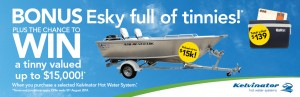 Kelvinator. Purchase hot water system – Win Boat and Esky