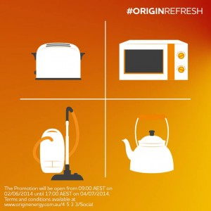 Origin Energy – Win small home appliances