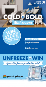 Paint Place – Win $2000 worth of Gift Vouchers