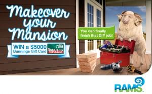 Raymond A Ram – Win a $5,000 Bunnings voucher