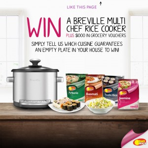 SunRice – Win A Breville Cooker plus $1,000 in Grocery Vouchers