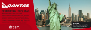 The Voice – Qantas – Win trip to Sydney and fly to New York, London or LA