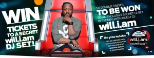 The Voice – Win Tickets to the Will.i.am Secret DJ Set