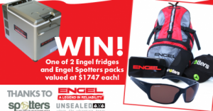 UNSEALED 4X4 – Win win 1 of 2 Engel Fridges and Spotters packs valued at $1,747