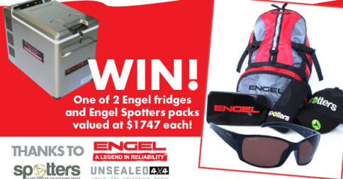 UNSEALED 4X4 – Win win 1 of 2 Engel Fridges and Spotters pac