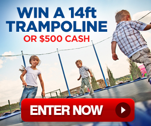 Win A 14ft Trampoline or $500 Cash