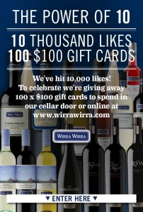 Wirra Wirra Wines – Win $100 gift cards *50 left to be won