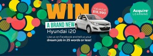 Acquire Learning – Tell your dream job for a chance to Win a new Hyndai i20