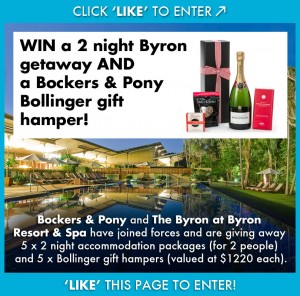 Bockers and Pony – Win 1 of 5 Byron Bay getaways (no travel)