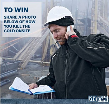 Bosch Blue – Win Bosch Heated Jacket valued at $249 Competition
