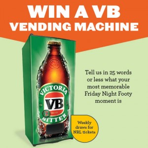 BWS – Footy – Win A VB Vending Machine Competition