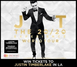 Channel Ten – The Project – Win trip to LA to see Justin Timberlake