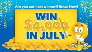 Win $4,000 in July