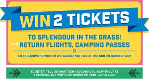 Grilld – Win a trip to Splendour in the Grass Festival (July 24-27 2014)
